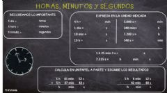 Interactive worksheet Horas, minutos y segundos.