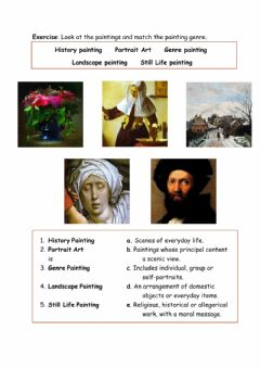 Interactive worksheet Styles of Paintings