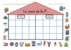 Interactive worksheet La casa de la R