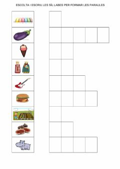 Interactive worksheet Sil·labes  9