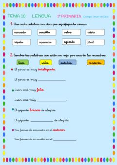 Interactive worksheet Repaso Tema 10