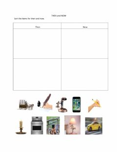 Interactive worksheet Then and Now