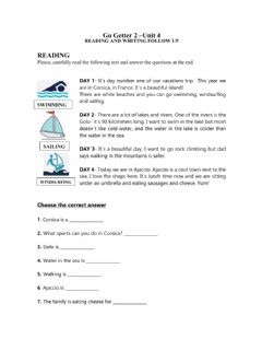 Interactive worksheet Go getter 2-unit 4-reading and writing