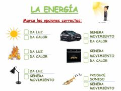 Interactive worksheet La energía