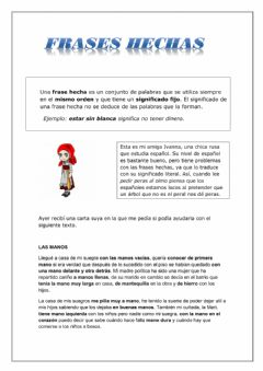 Interactive worksheet Frases hechas: mano