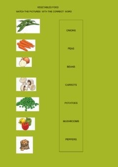 Interactive worksheet Vegetables vocabulary