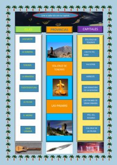 Interactive worksheet Islas Canarias