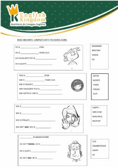 Interactive worksheet Kids Box 1 guided writing