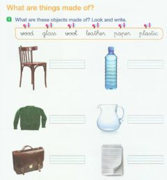 Interactive worksheet What things are made of