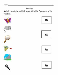 Ficha interactiva Beginning Sound Letter M