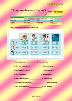 Interactive worksheet Things we do every day-w3