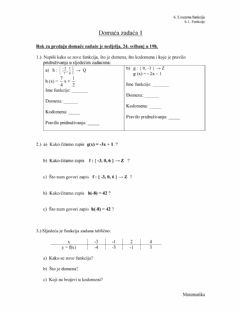 Interactive worksheet Dz1-Funkcije