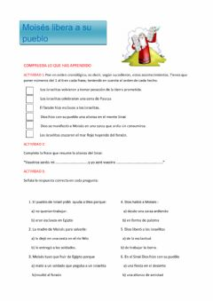 Interactive worksheet Moisés