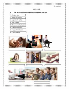 Interactive worksheet Imperativo