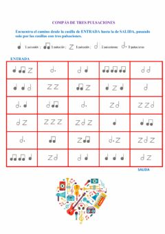 Interactive worksheet Compás de 3