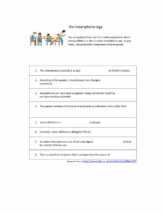 Interactive worksheet Listening: The Smartphone Age