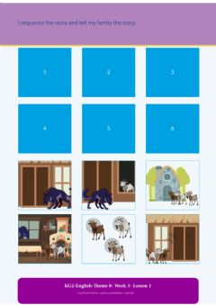 Interactive worksheet Three little goats