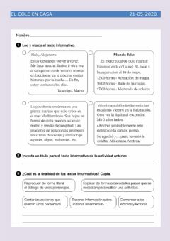 Interactive worksheet Texto informativo