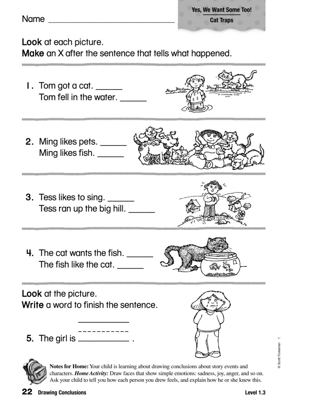 Drawing Conclusions interactive worksheet