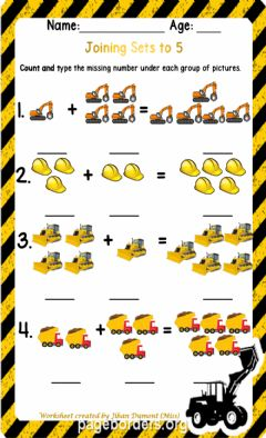 Interactive worksheet Joining Sets to 5