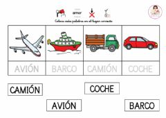 Interactive worksheet Lectura glogal con modelo Transportes