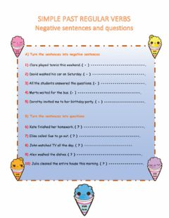 Interactive worksheet Simple past tense- Questions and Negative sentences