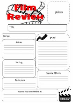 Interactive worksheet Film Review