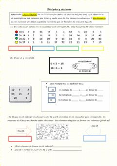 Interactive worksheet Multiplos y divisores