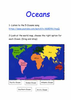 Interactive worksheet Oceans