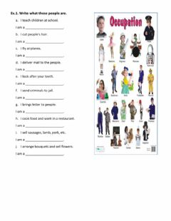 Interactive worksheet Occupation-