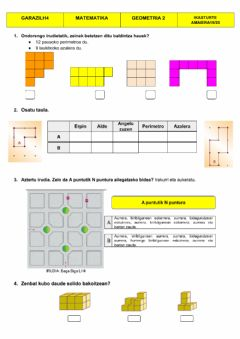Interactive worksheet Geometria 2