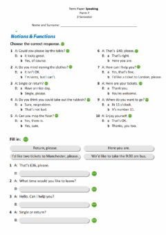 Interactive worksheet Speaking Comprehension 7 Form