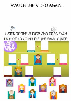 Interactive worksheet My family tree