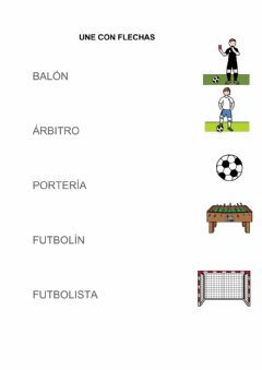 Interactive worksheet Fútbol