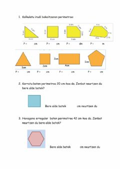 Interactive worksheet Perimetroa A