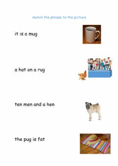 Interactive worksheet Match Phrase to Picture