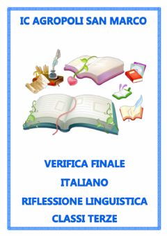 Interactive worksheet italiano terze verifica - Riflessione linguistica