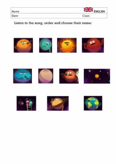 Interactive worksheet We are the planets