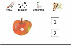 Interactive worksheet Conteo frutas