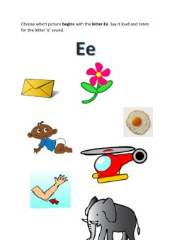 Interactive worksheet Letter Ee sound