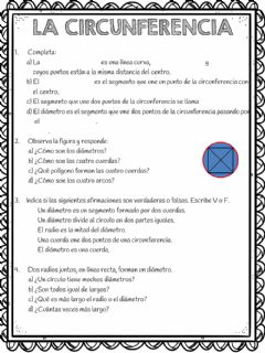 Interactive worksheet La circunferencia