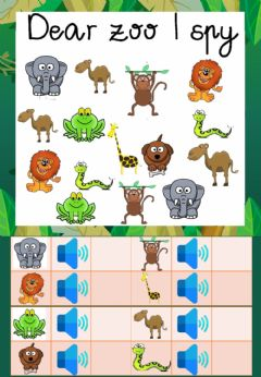 Interactive worksheet I spy dear zoo