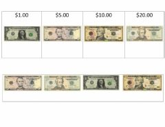 Interactive worksheet U.S. Currency Match