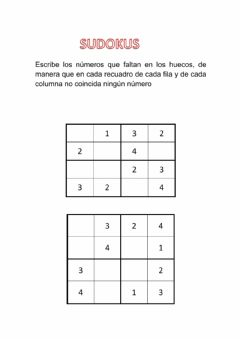 Interactive worksheet Sudokus