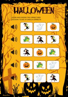 Interactive worksheet Halloween 1