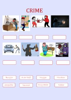 Interactive worksheet Crime vocabulary