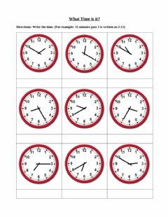 Interactive worksheet Time to the nearest five minutes