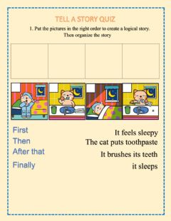 Interactive worksheet Organize a story