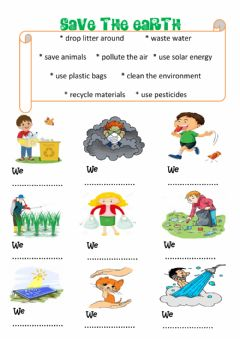 Ficha interactiva Environment Worksheet