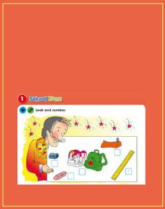 Interactive worksheet School things and colours